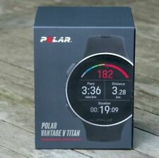 Polar Vantage V Titan GPS 90072458 Training Watch, Titanium Case w/ Black PVD