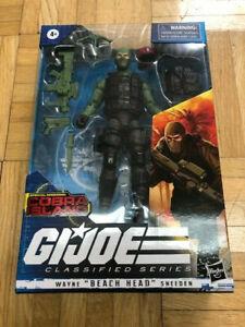 GI Joe Classified Wayne BEACH HEAD Sneeden MOC Sealed Cobra Island