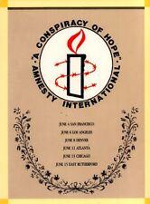 U2 / Lou Reed / Peter Gabriel 1986 Amnesty International Concert Program Book  00004000