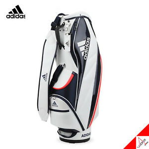 "Adidas 2020 AG NEW Sporty Caddie Cart Bag Light Weight 8.5"" 5Way 3kg PU - Black"