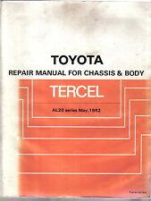Toyota Tercel Chassis & Body original Repair Manual  AL20 Series 1982 Pub. 36190
