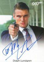 James Bond Archives Spectre Dolph Lundgren as Venz Autograph Card