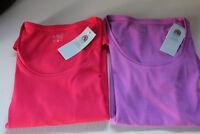 Ladies M&S Collection Size 8 Scoop Neck Cotton Top T Shirt