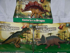 3 x Dinosaurier*Stegosaurus,Triceratops,Tyrannosaurus Rex *Century of the Dragon