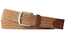 Polo Ralph Lauren Men's Braided Fabric Stretch Belt (Timber Brown, L)