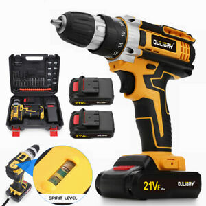 2021 UPGRADE 21V Cordless Drill Set Driver Screwdriver Lithium Ion Fast Charge