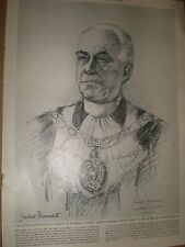 Clement James Harman new Lord mayor of London 1963 old print ref AY