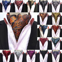 Men's Paisley Floral Polka Dots Silk Cravat Ascot Party Wedding Classic Necktie