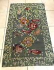 "Vintage Hand Made Wool Rug Tapestry Marine Life  Fish 35""x57"""