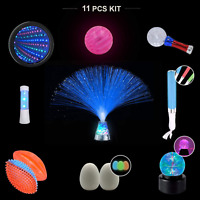 Playlearn Light Up Toys Kit For Sensory Education 10 x LED Fidget Toy Set, Toys