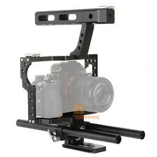 DSLR 15mm Rod Rig Camera Video Cage Kit +Top Handle Grip for Sony A7 A7r A7s New