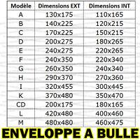 ENVELOPPE A BULLES D'AIR PRO POCHETTES MATELASSEES EXPEDITION 13 FORMATS VIERGE