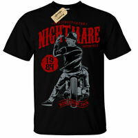 Nightmare Motorcycle T-Shirt biker horror halloween mens