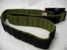 Shotgun Shell Bandolier OD Fox Outdoor Nylon Tactical 10 12 16 20 Gauge NEW
