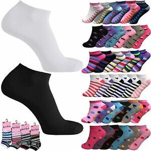 Premium 3x 6x 12x 24x Ladies Womens Trainer Socks Soft Cotton Ankle Sports Socks