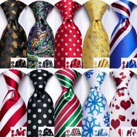 Novelty Mens Tie Silk Necktie Red Blue Black Striped Plain Paisley Hanky Party