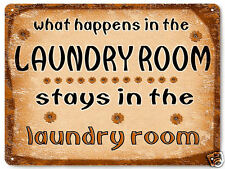 Laundry room METAL SIGN funny vintage style great gift Wall decor Plaque 483
