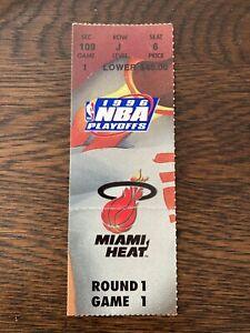 1996 Michael Jordan Chicago Bulls Series Clincher Ticket Stub vs Heat 5/1/96