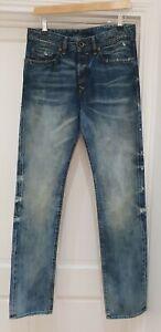 Diesel Buster Regular Slim Tapered Blue Jeans Size W28 L32