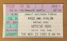1993 DEPECHE MODE LOS ANGELES CONCERT TICKET STUB DEVOTIONAL TOUR PERSONAL JESUS