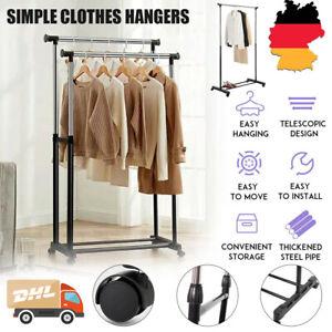 Kleiderständer Wäscheständer Garderobenständer Kleiderstange Ständer auf Rollen