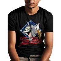 Womens A Nightmare on Elm Street Blades Cropped Black T-Shirt Retro Top