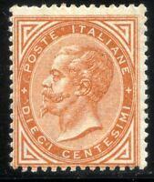 Regno d'Italia 1863 n. T17 - 10 c. giallo ocra - tiratura di Torino ** (m3226)