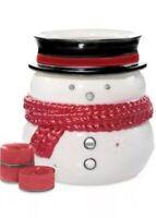 Yankee Candle- Snowman Luminary Tea Light Holder - Sparkling Cinnamon New In Box