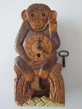 More details for vintage moving eye monkey clock black forest ?