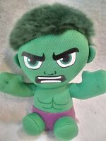 "TY MARVEL THE INCREDIBLE HULK  7"" Plush w/Beanies Green 2017 Figure B25"