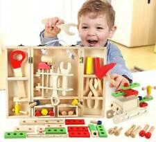 Holz Werkzeugkasten und Zubehör Set Kinder Pädagogische BAU Spielzeug mit koffer