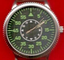 50 mm Dimensione cassa orologio da polso anni 1940 replica del Tedesco Aviazione Leather STRA