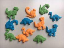 Edible sugarpaste Dinosaurs - Cake Topper X 12