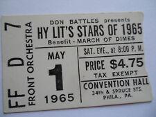 ROLLING STONES__1965__Original CONCERT TICKET STUB_with HERMAN'S HERMITS__Philly