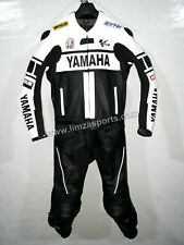 YAMAHA-Motorcycle Racing Leather 2PC Suit-MotoGp-CE Approved Protectors