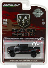 GREENLIGHT 2016 Ram 2500 Power Wagon  Matte Black Hobby Exclusive 1/64 CAR 29901