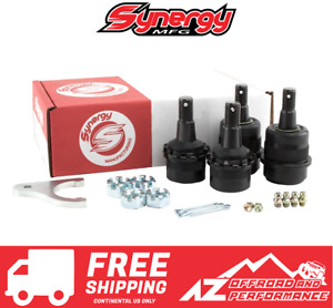 Synergy Mfg HD Adjustable Front Ball Joints w/ Knurls for 07-18 Jeep Wrangler JK