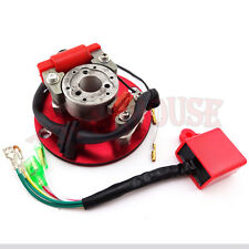 Red Racing Magneto Stator Rotor CDI For 110 125 140cc Engine Lifan Dirt Pit Bike