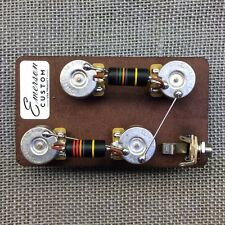 Emerson Custom Les Paul Guitar Prewired Kit Long Shaft w/ Bumblebee Capacitors