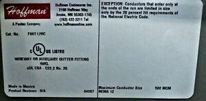 Hoffman F66T12HC Electrical Enclosure