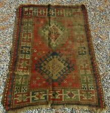 Kazak Antique Rug, Very old Very worn 35 inches by 45 inches