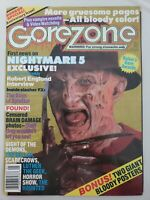 GOREZONE Horror Magazine #7 MAY 1989 NIGHTMARE ON ELM STREET! FREDDY KRUEGER!