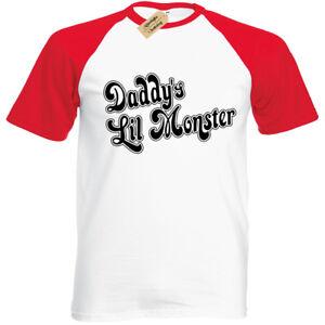 Unisex Daddy's Little Monster Baseball T-Shirt   S to Plus Size   Halloween
