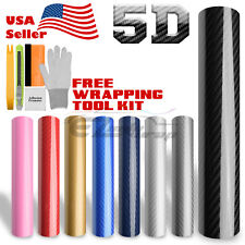 *Premium 5D High Gloss Carbon Fiber Vinyl Wrap Sticker Decal Sheet Bubble Free