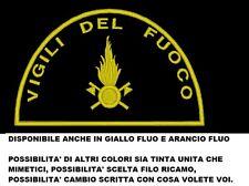 Toppa VIGILI DEL FUOCO PATCH VDF ricamata ricamo termoadesiva o velcr. bandiera