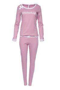"""LOUIS & LOUISA  """" Zauberhaft """"  Pyjama Rippe rosa / Spitze Gr. XS - XXL  NEU"""
