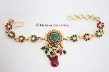 Bajuband bellydancer BELLYDANCE baju Bracciale Bollywood Rosso Verde Bracciale Catena