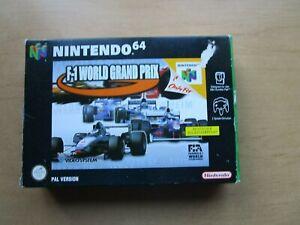 F-1 World Grand Prix, Nintendo 64 N64, OVP/CIB, komplett!