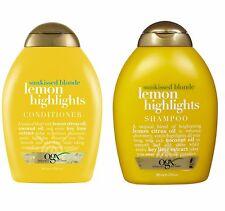 Organix (OGX) Sunkissed Blonde Lemon Highlights 13 oz, (Shampoo + Conditioner)