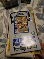 NOTRE DAME Football First Edition Trading Cards 1990 Collegiate Box